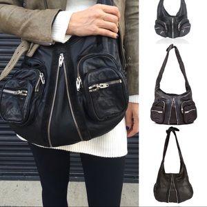 Alexander Wang Black leather Donna zip Hobo Bag